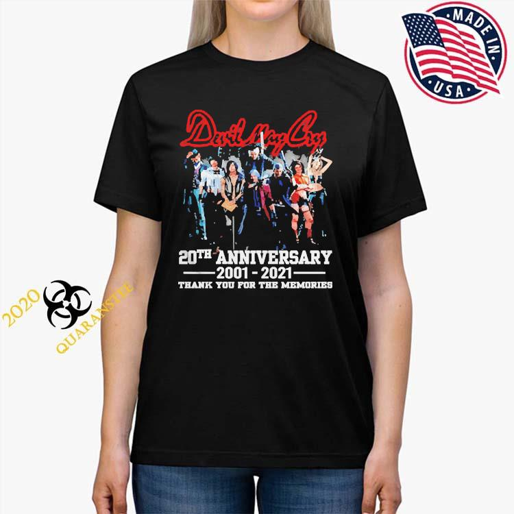 Devil May Cry 20th Anniversary 2001 2021 Thank You For The Memories Shirt Ladies Tee