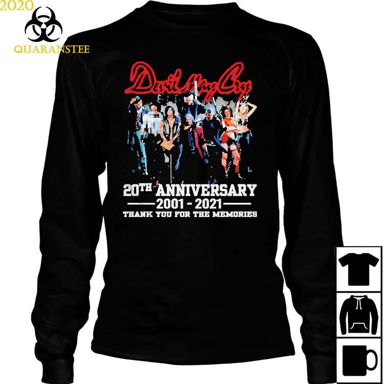Devil May Cry 20th Anniversary 2001 2021 Thank You For The Memories Shirt Long Sleeved