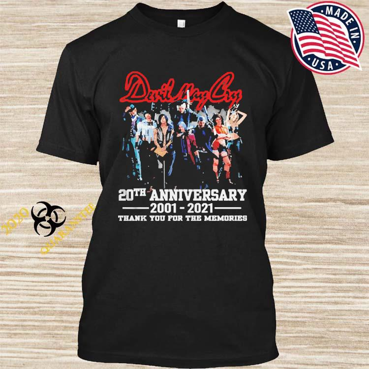 Devil May Cry 20th Anniversary 2001 2021 Thank You For The Memories Shirt