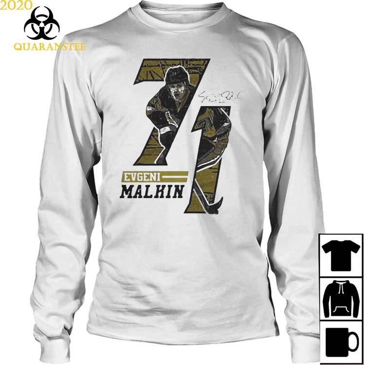 Evgeni Malkin Offset Signature Shirt Long Sleeved