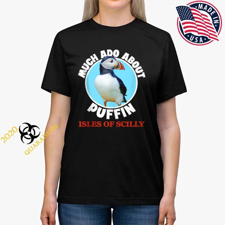 Isles Of Scilly Souvenir Puffin Bird Shirt Ladies Tee