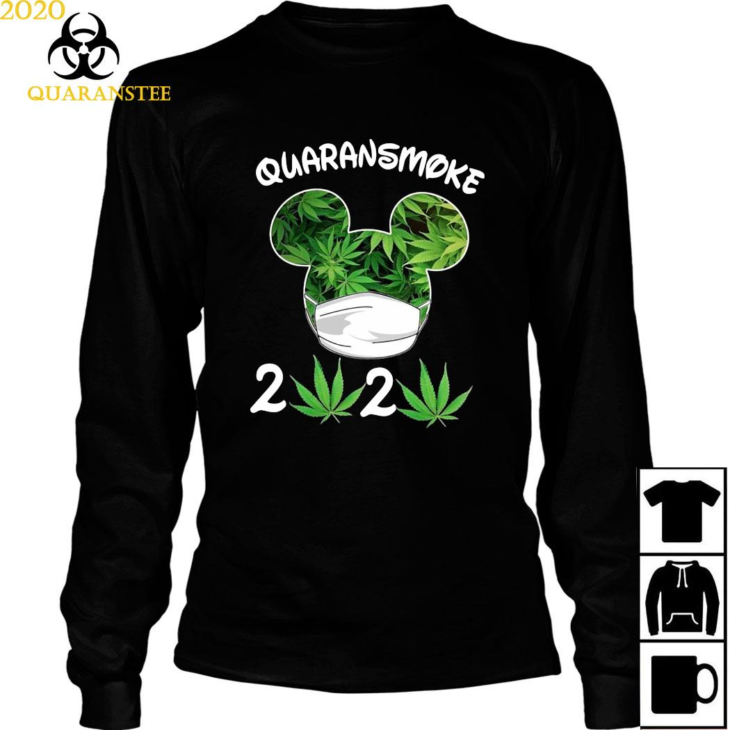 Mickey Mouse Cannabis Quaransmoke 2020 Shirt Long Sleeved
