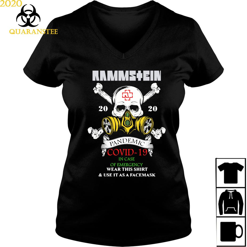 Rammstein Pandemic Covid-19 In Case Of Emergency Wear This Shirt Ladies V-neck
