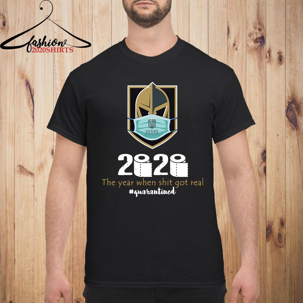 Vegas Golden Knight Mask 2020 The Year When Shit Got Real Quarantined Shirt