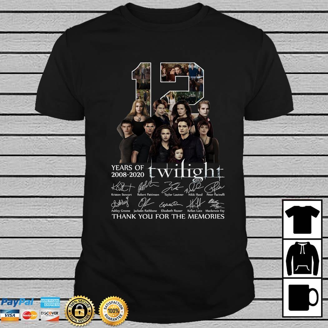12 Years Of 2008 2020 Twilight Thank You For The Memories Shirt
