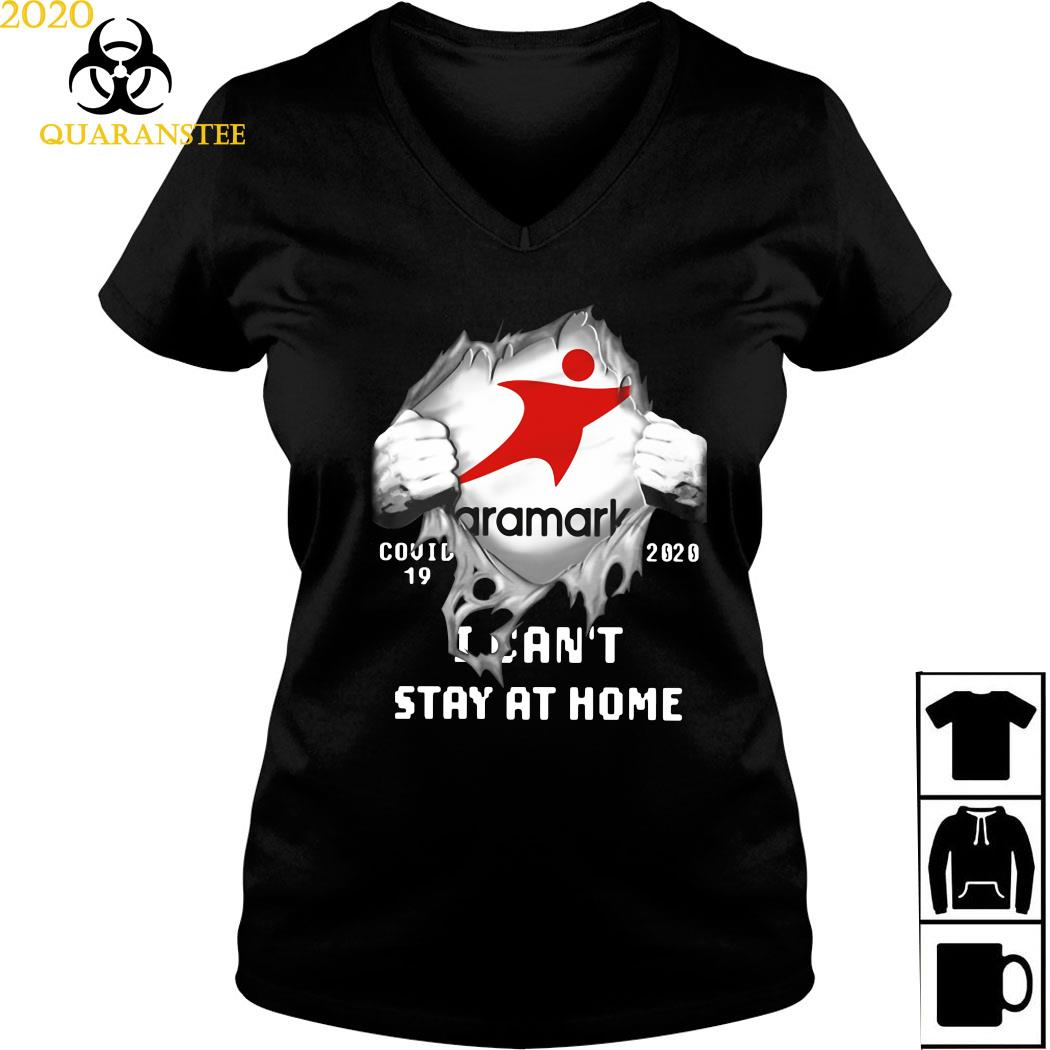 Aramark Inside Me Covid-19 2020 I Can't Stay At Home Shirt Ladies V-neck