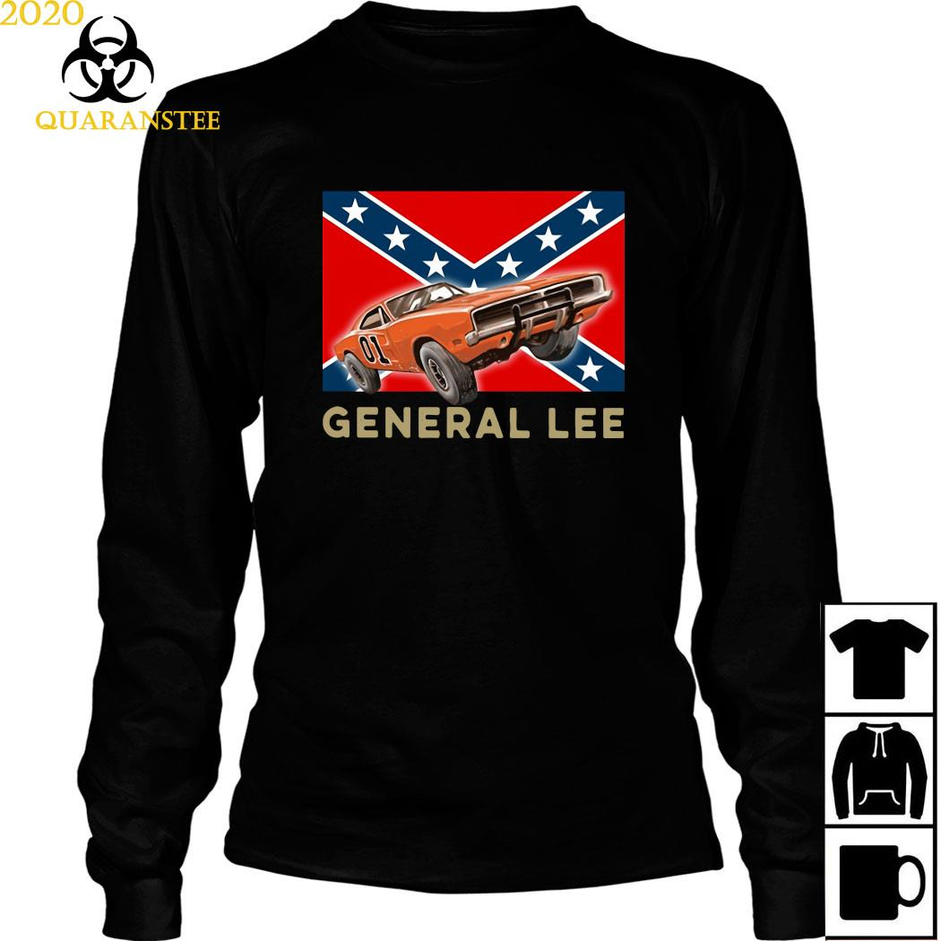 General Lee Rebel Car Independence Day Shirt Long Sleeved