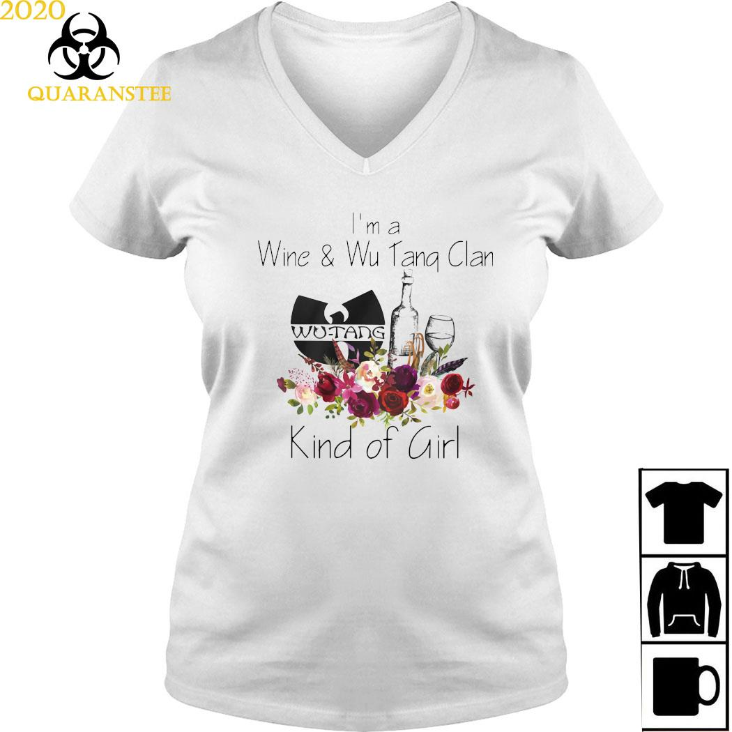 I'm A Wine And Wu Tang Clan Kind Of Girl Shirt Ladies V-neck