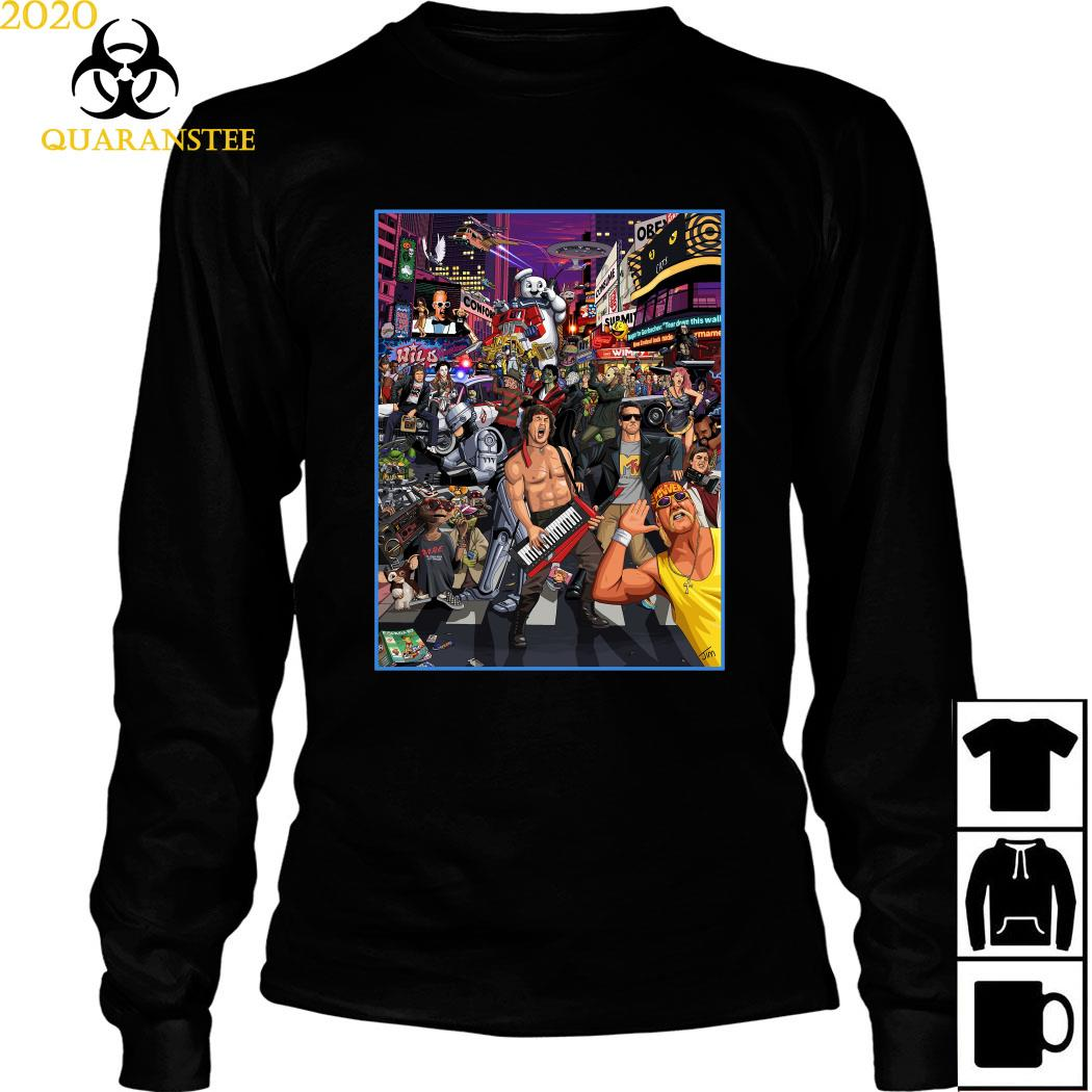 Tribute To 80s Pop Culture Shirt Long Sleeved