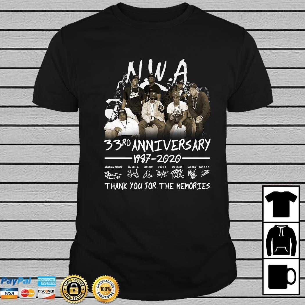 NWA 33rd Anniversary 1978 2020 Thank You For The Memories Signatures Shirt