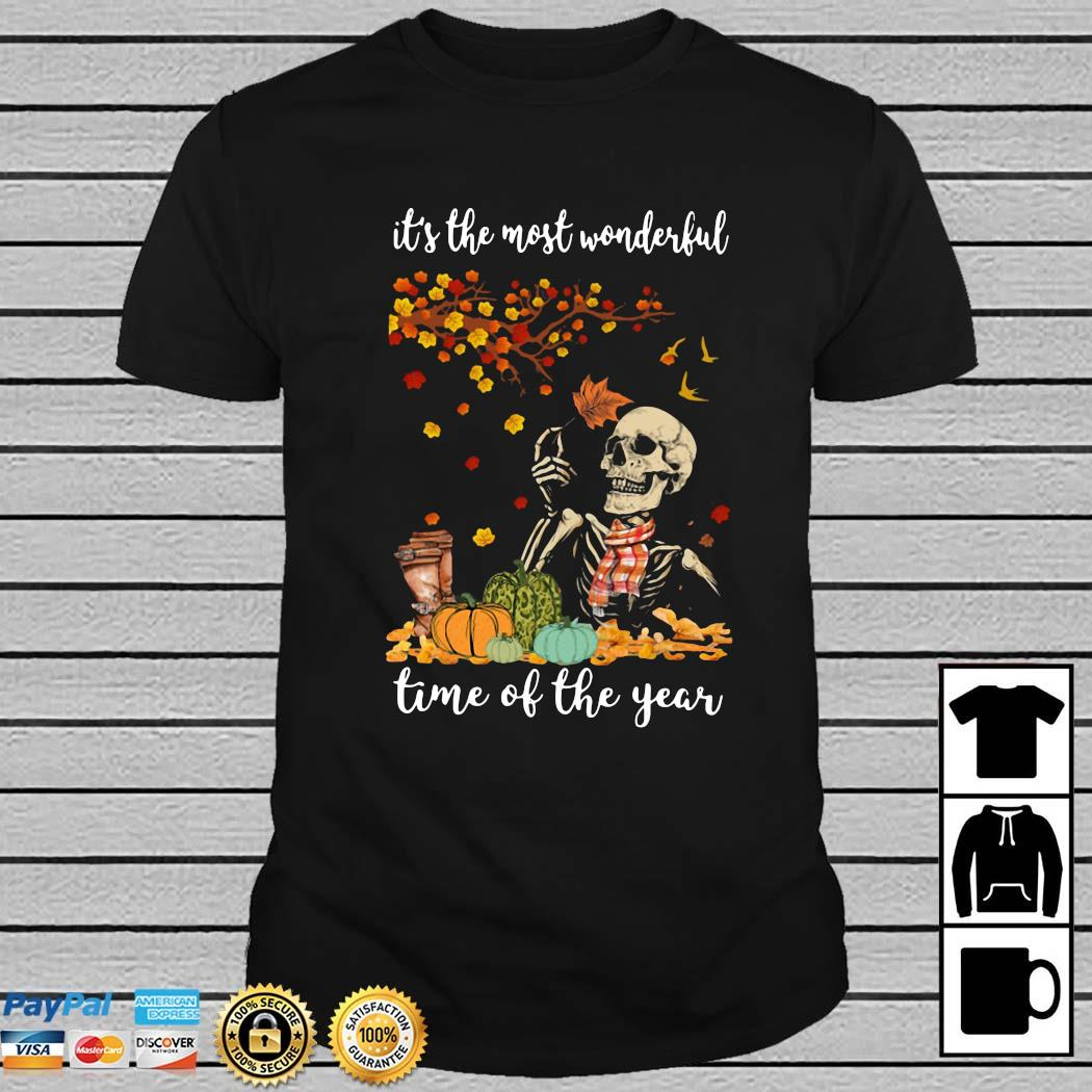 Skeleton It's The Most Wonderful Time Of The Year Halloween Shirt