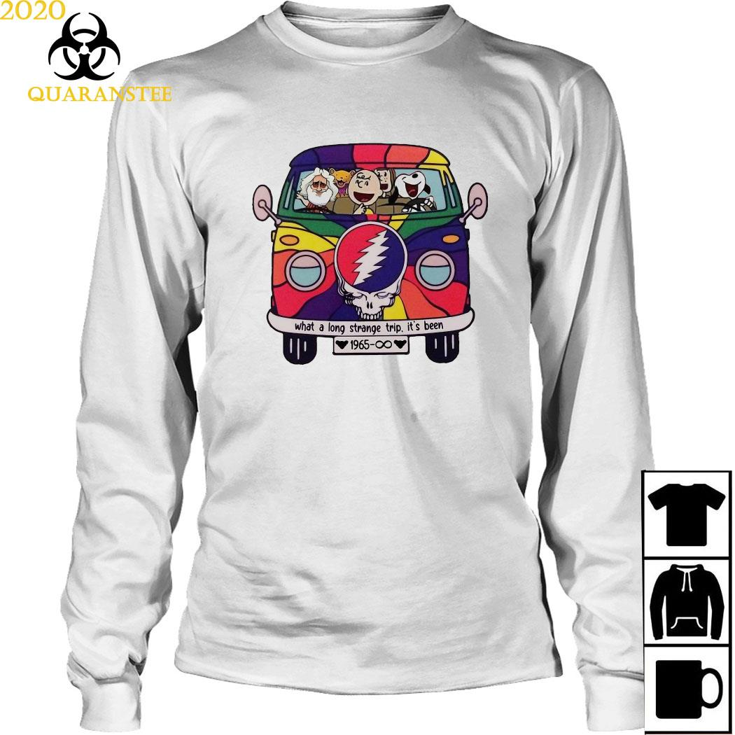 Snoopy Grateful Dead What A Long Strange Trip It's Been 1965 Shirt Long Sleeved