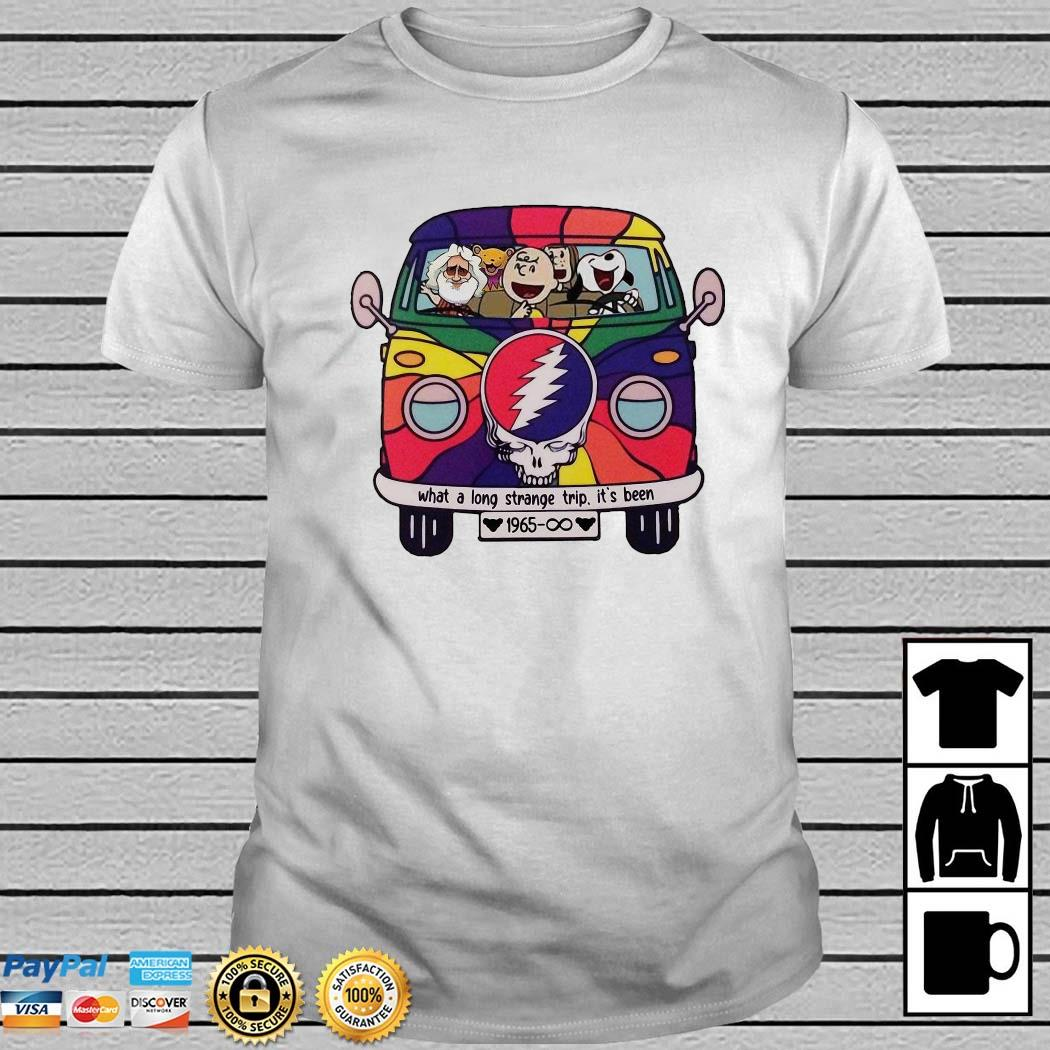 Snoopy Grateful Dead What A Long Strange Trip It's Been 1965 Shirt