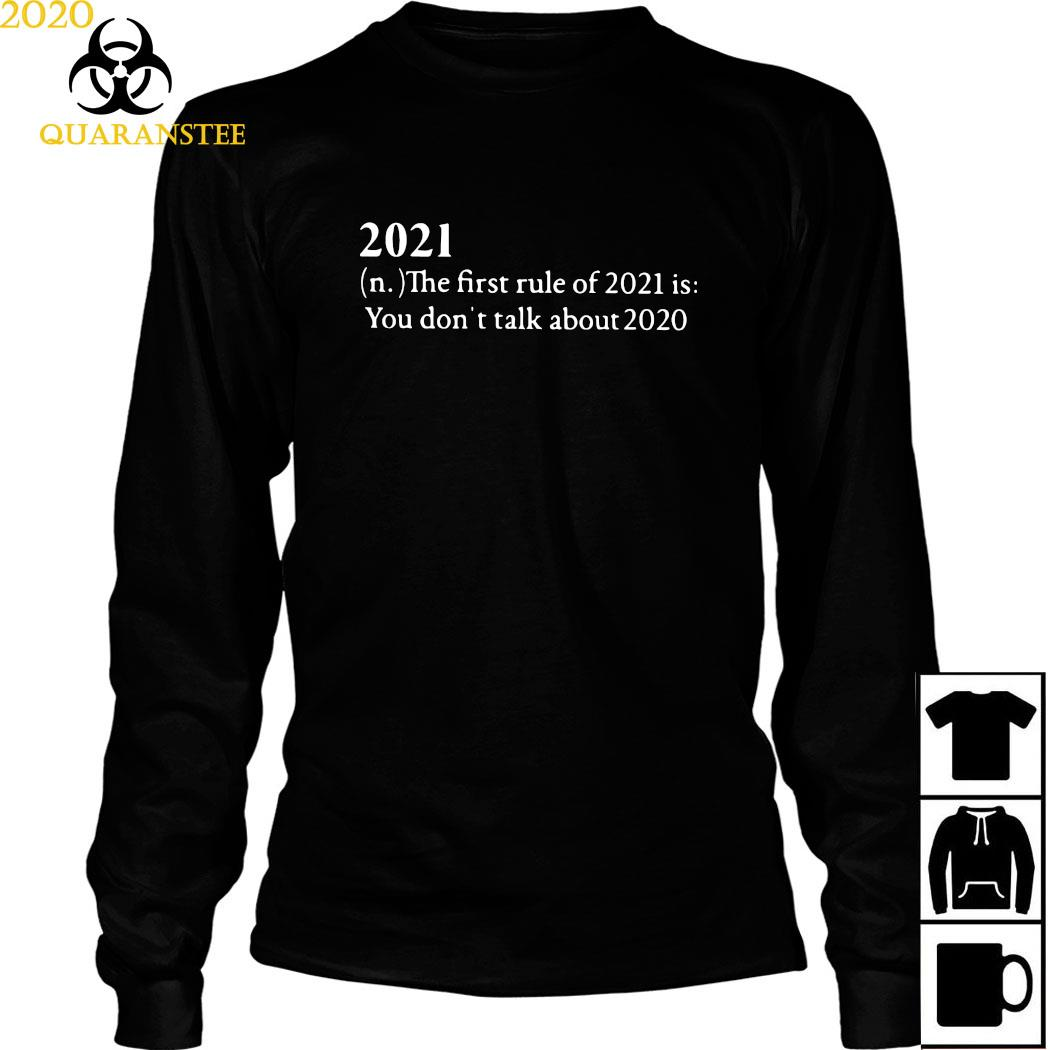 2021 The First Rule Of 2021 Is You Don't Talk About 2020 Shirt Long Sleeved