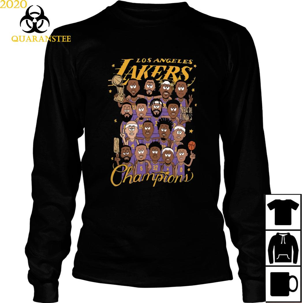 All Player Los Angeles Lakers Cartoon Champions Shirt Long Sleeved