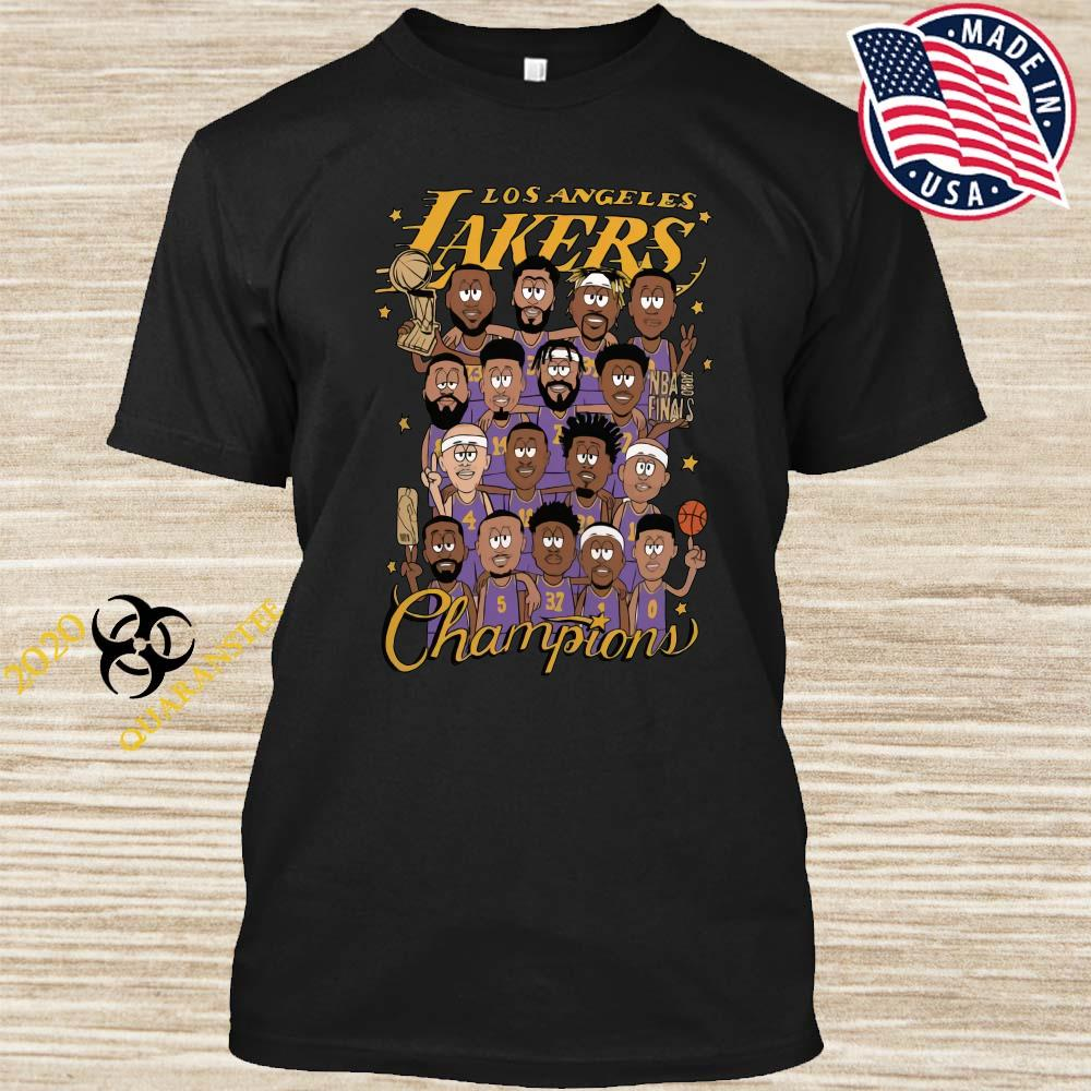All Player Los Angeles Lakers Cartoon Champions Shirt
