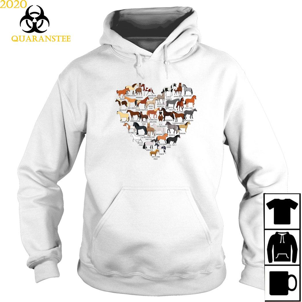 Horse Breed Of Horses Heart Shirt Hoodie