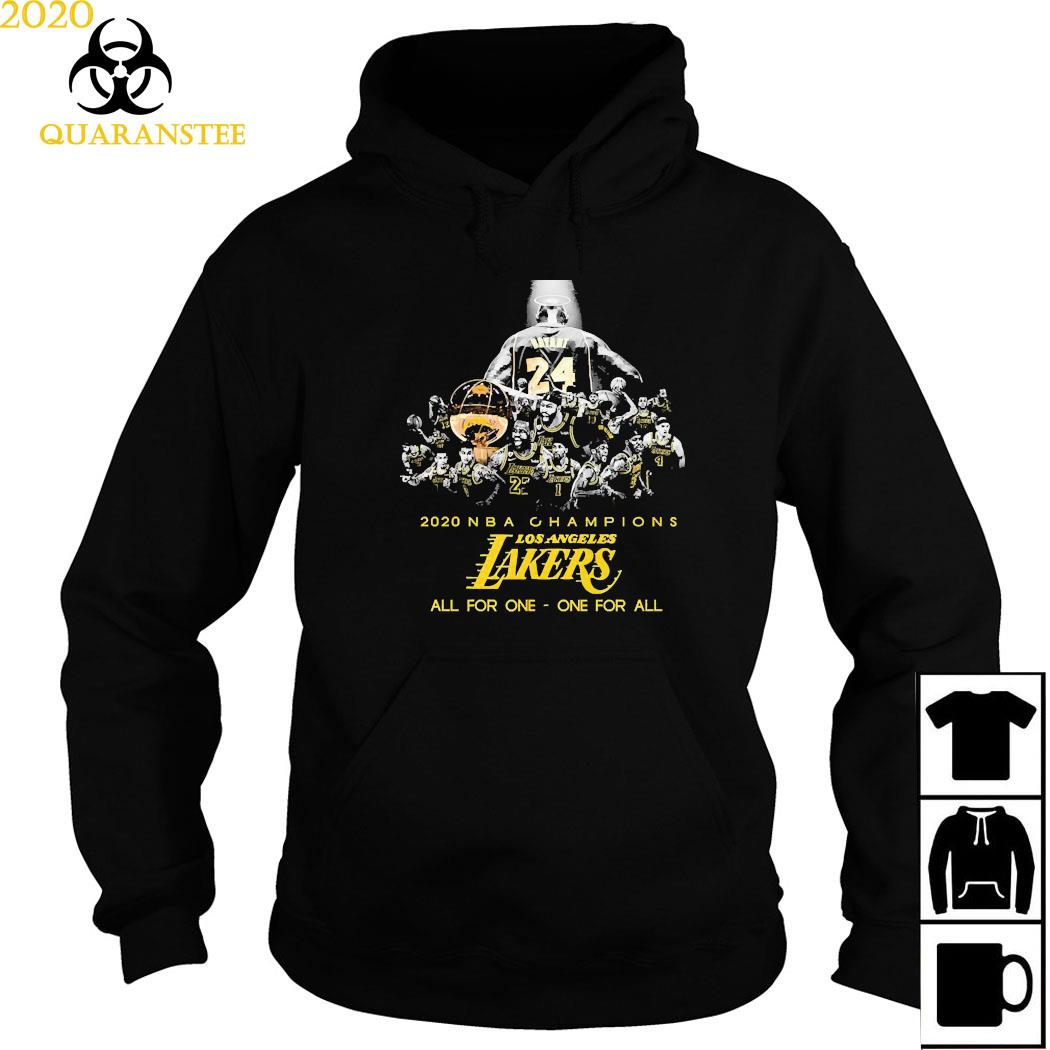 Kobe Bryant 2020 NBA Champions Los Angeles Lakers All For One One For All Shirt Hoodie