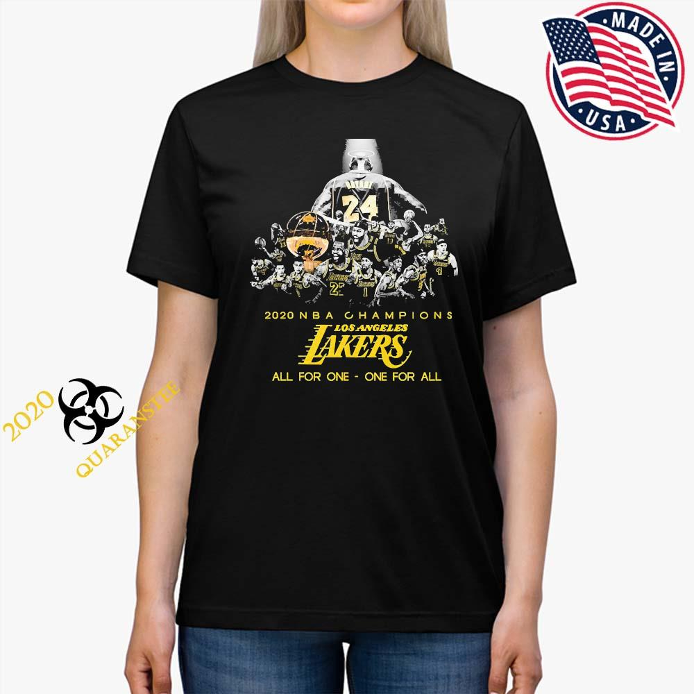 Kobe Bryant 2020 NBA Champions Los Angeles Lakers All For One One For All Shirt Ladies Tee