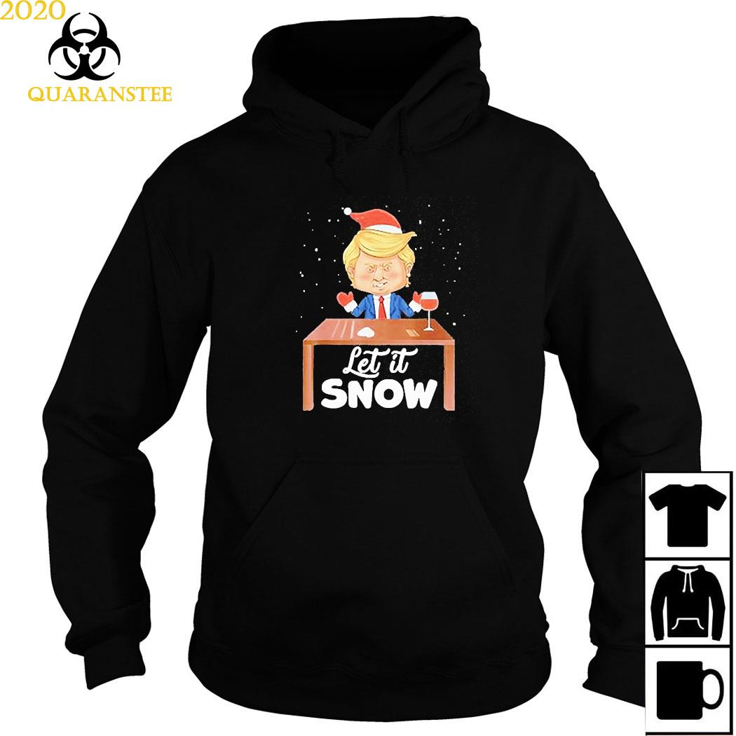 Let It Snow Trump Cocaine Xmas Ugly Christmas Shirt Hoodie