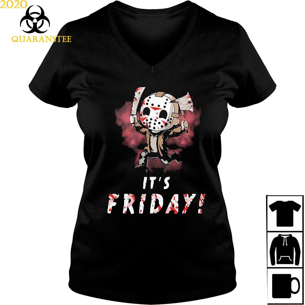 Michael Myers It's Friday Shirt Ladies V-neck
