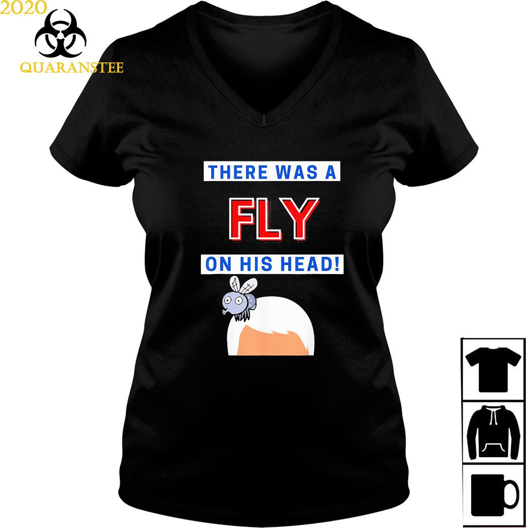 Mike Pence Fly On His Head VP Debate Fly Pence's Head 2020 Shirt Ladies V-neck