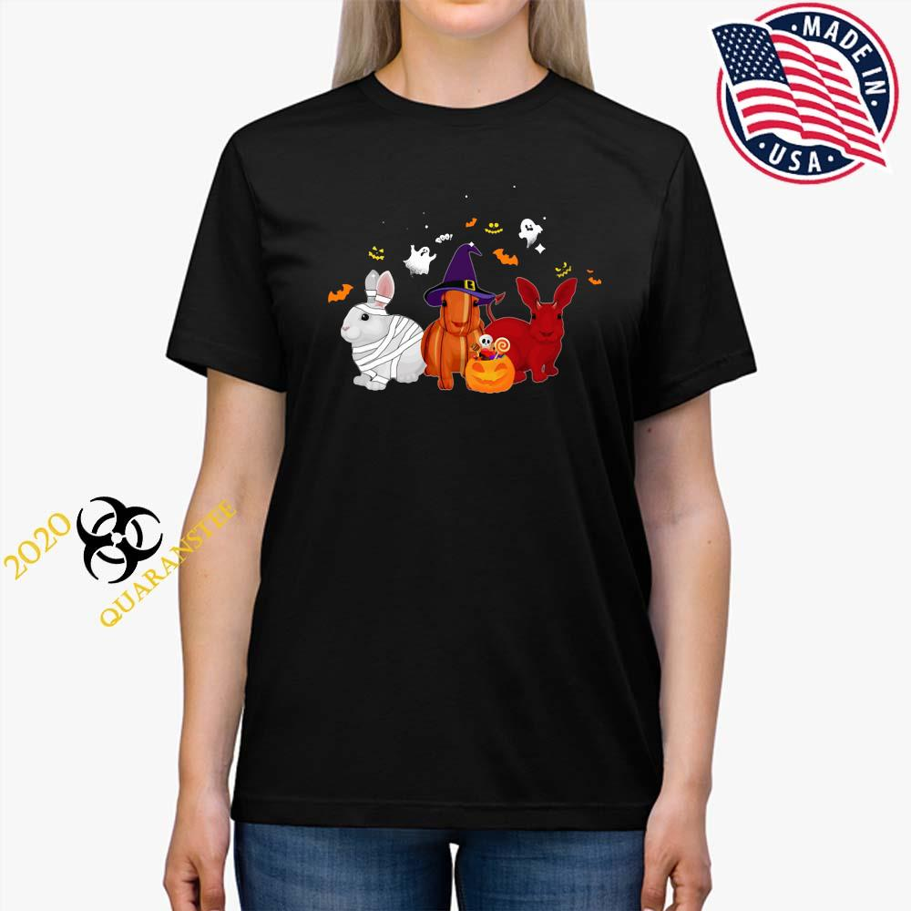 Rabbit Pumpkin Halloween Shirt Ladies Tee