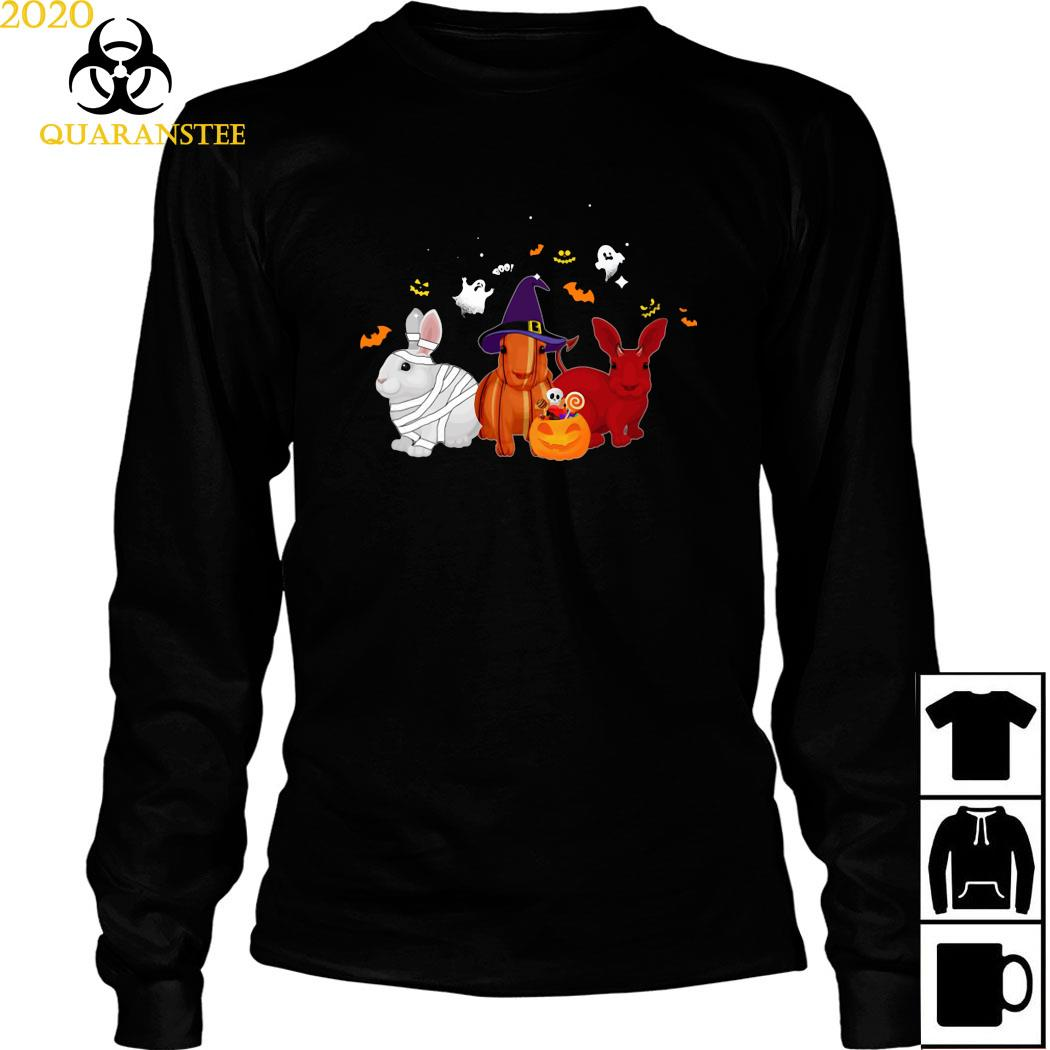 Rabbit Pumpkin Halloween Shirt Long Sleeved