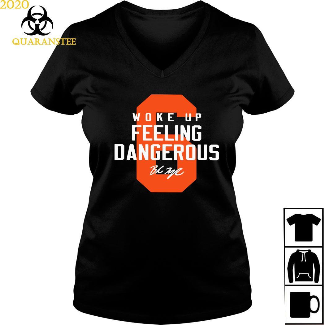 Baker Mayfield 6 Woke Up Feeling Dangerous Shirt Ladies V-neck