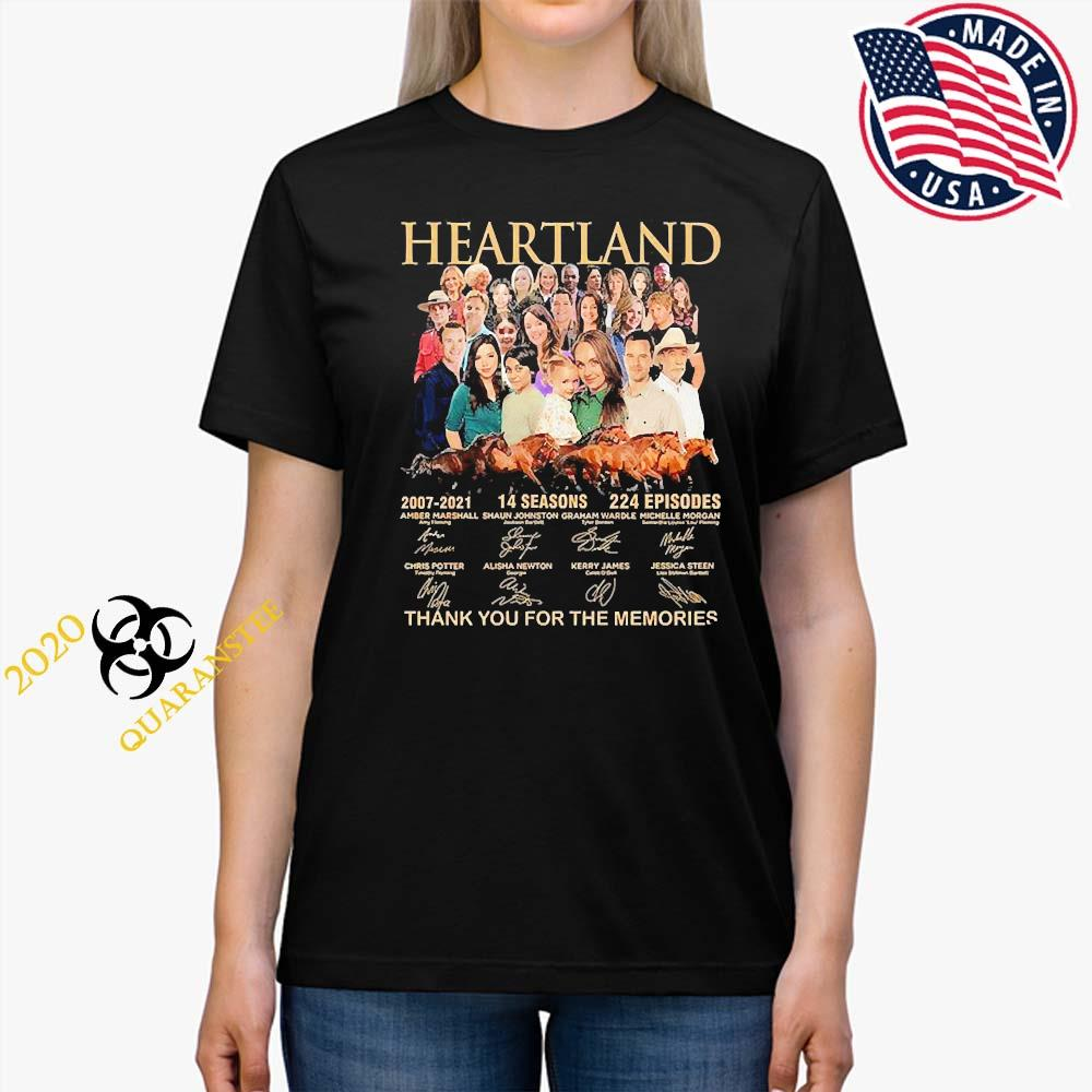 Heartland 2007 2021 14 Seasons 224 Episodes Thank You For The Memories Signatures Shirt Ladies Tee