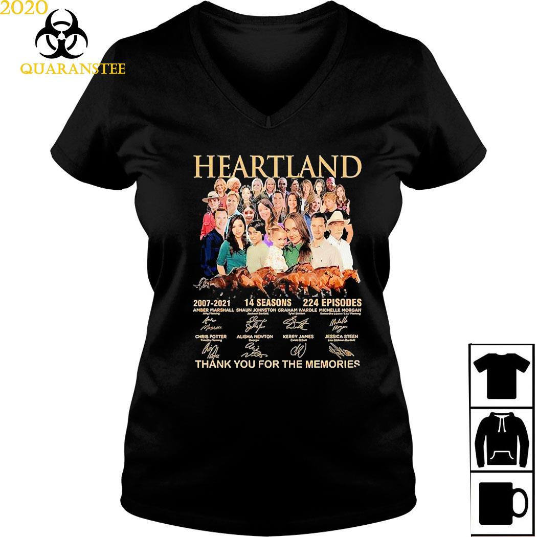 Heartland 2007 2021 14 Seasons 224 Episodes Thank You For The Memories Signatures Shirt Ladies V-neck