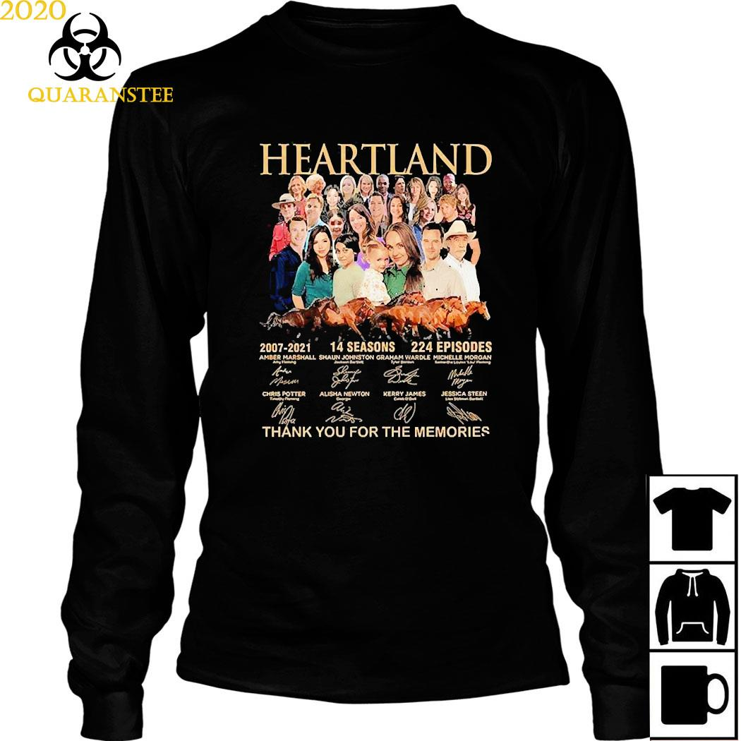 Heartland 2007 2021 14 Seasons 224 Episodes Thank You For The Memories Signatures Shirt Long Sleeved