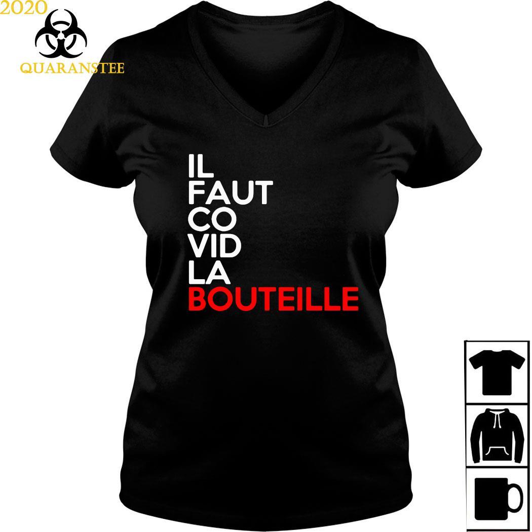 Il Faut Co Vid La Bouteille Shirt Ladies V-neck