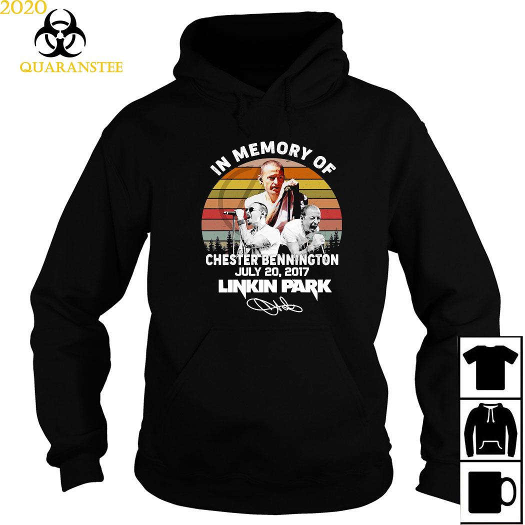 In Memory Of Chester Bennington July 20 2017 Linkin Park Signature Vintage Shirt Hoodie