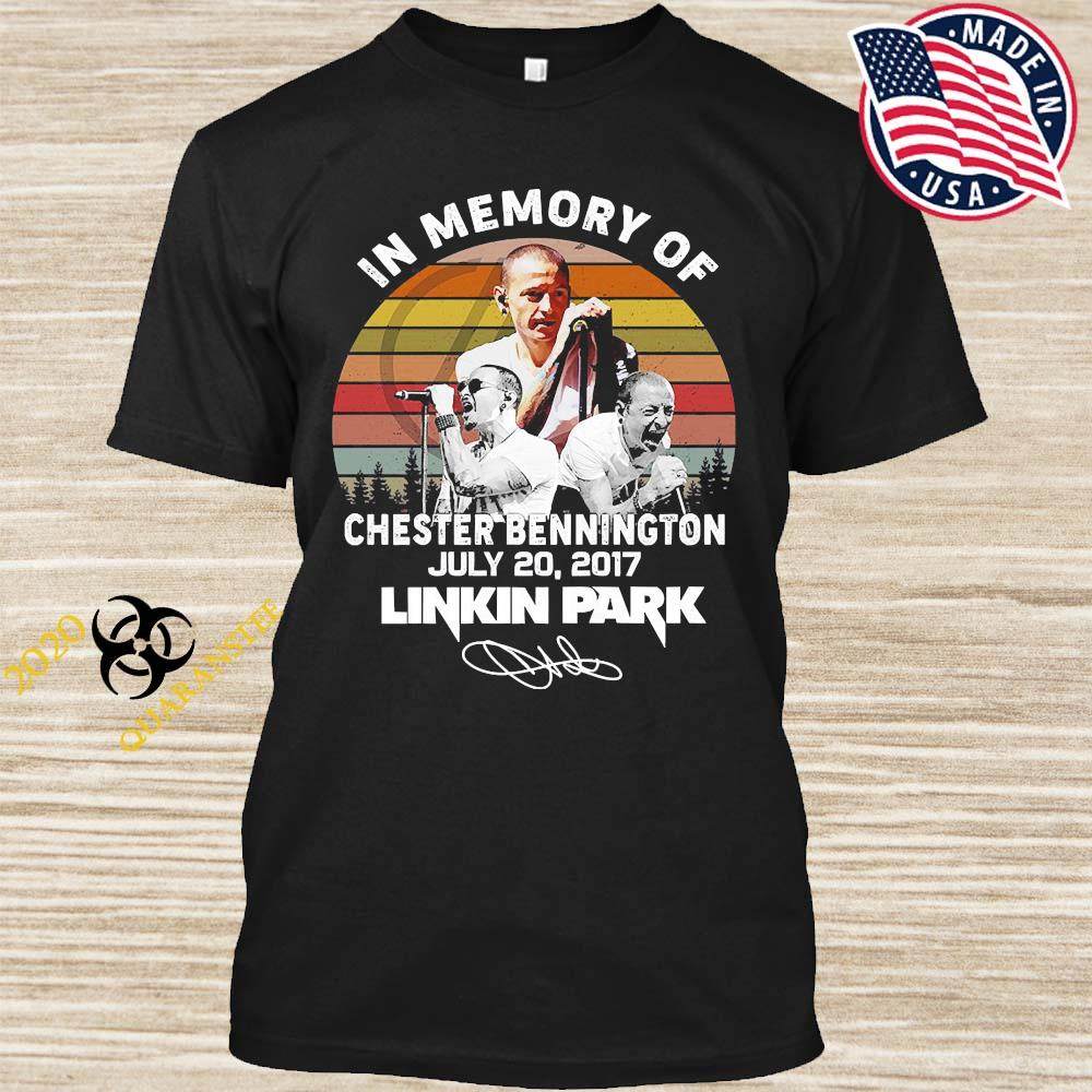 In Memory Of Chester Bennington July 20 2017 Linkin Park Signature Vintage Shirt
