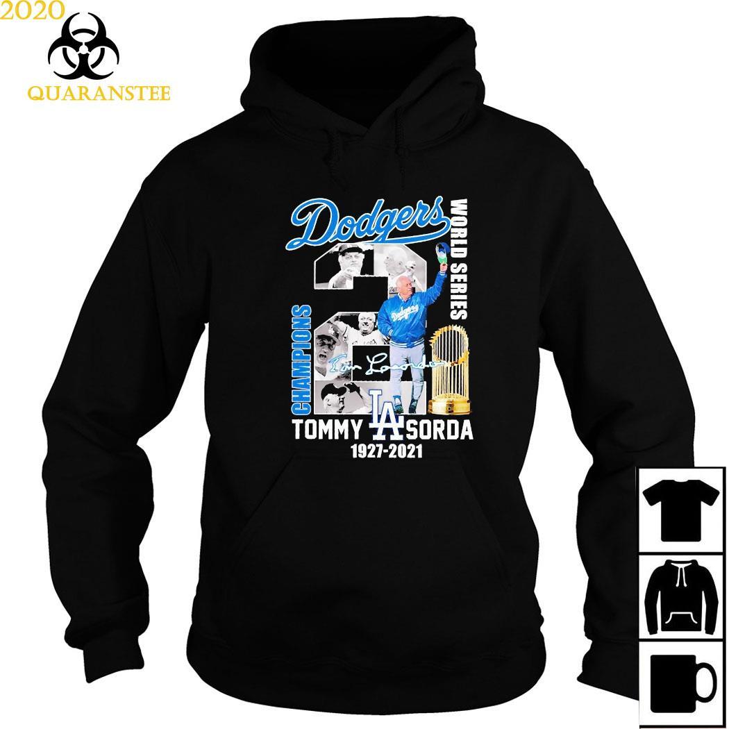 Los Angeles Dodgers Tommy Sorda 1927 2021 Signature Shirt Hoodie