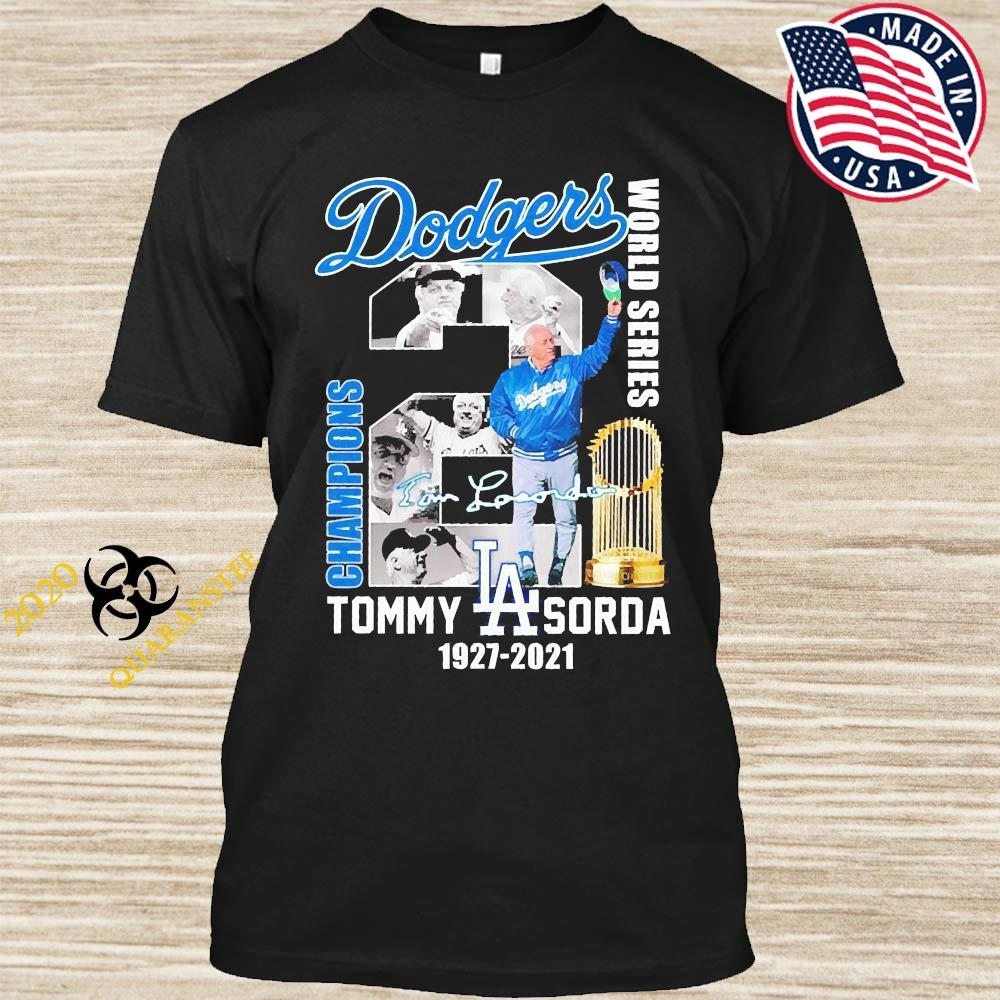 Los Angeles Dodgers Tommy Sorda 1927 2021 Signature Shirt