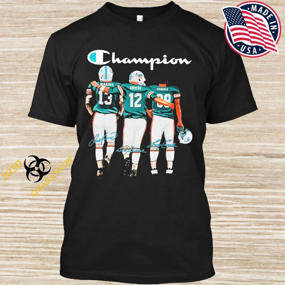 Miami Dolphins Marino Griese And Csonka Champion Signatures Shirt