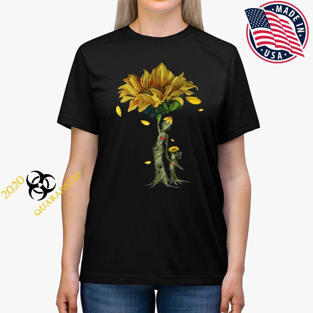 Mother Daughter Sunflower Shirt Ladies Tee