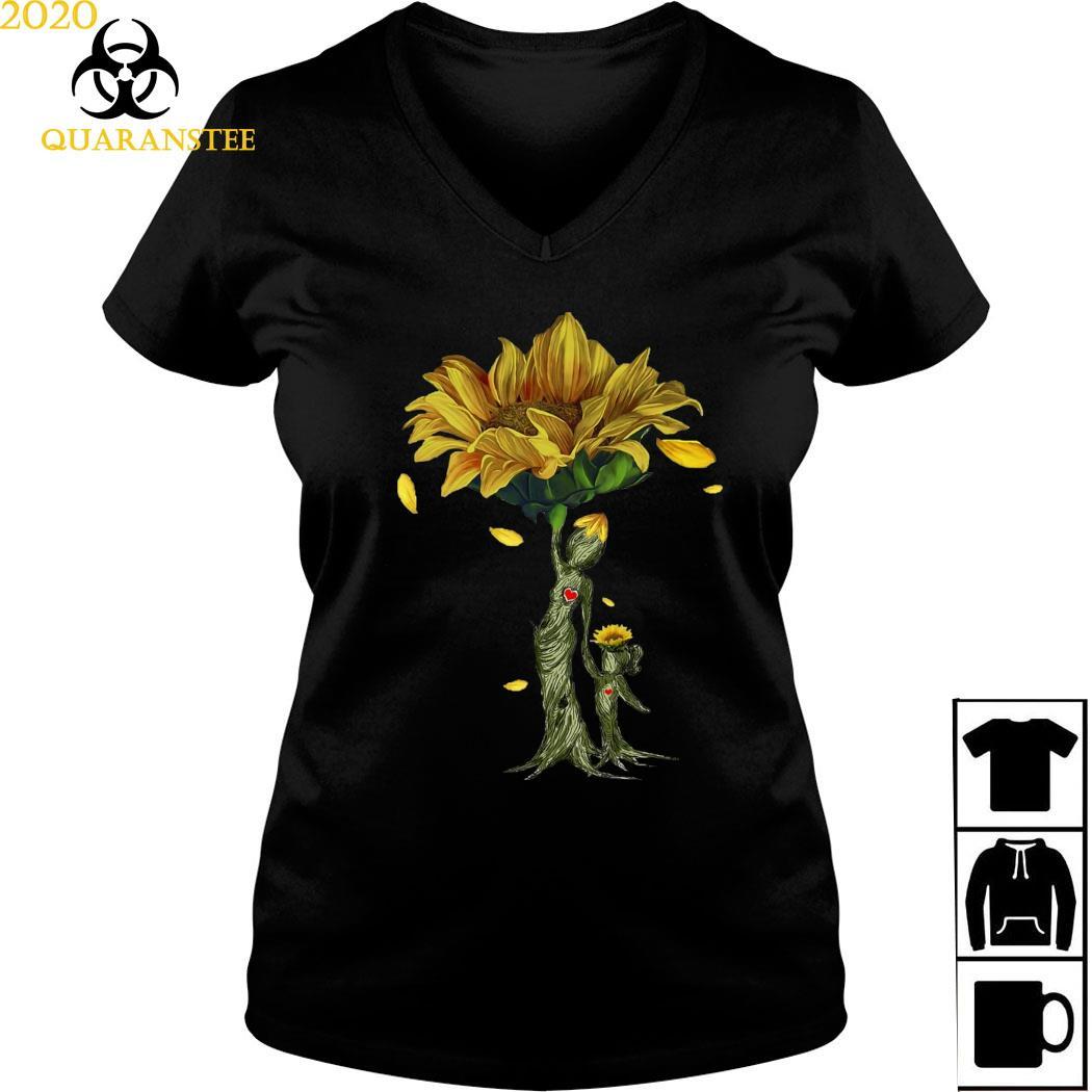 Mother Daughter Sunflower Shirt Ladies V-neck