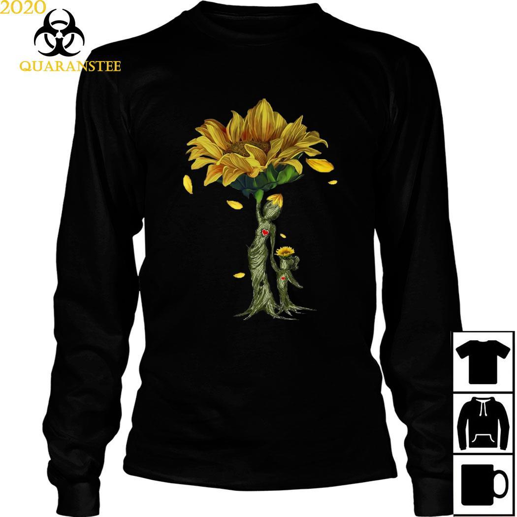 Mother Daughter Sunflower Shirt Long Sleeved