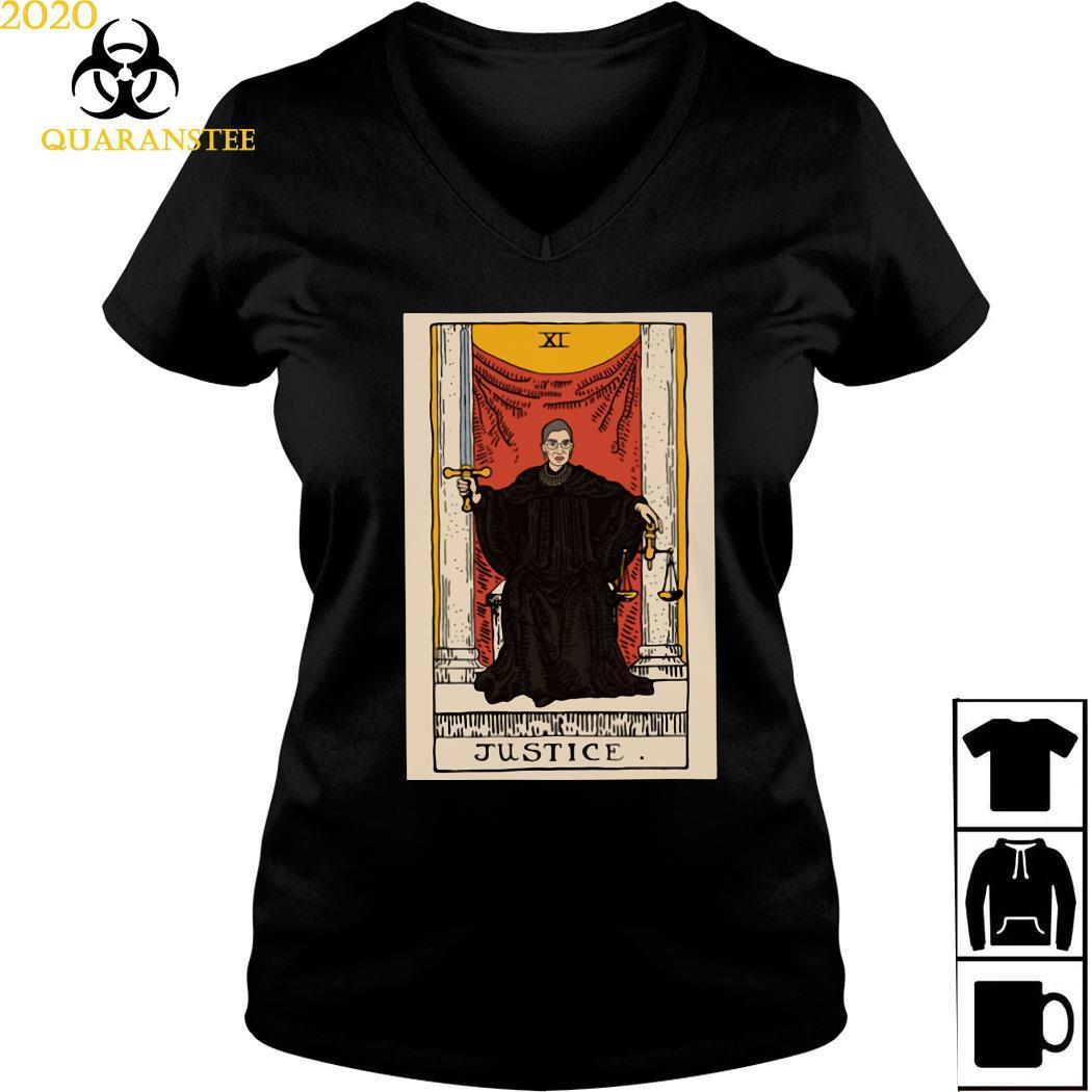 Ruth Bader Ginsburg Justice XI Shirt Ladies V-neck