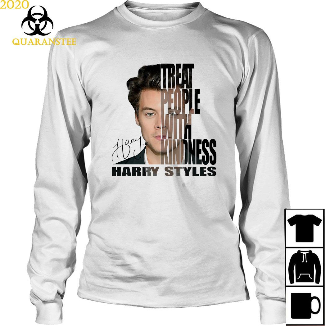 Treat People With Kindness Harry Styles Signature Shirt Long Sleeved