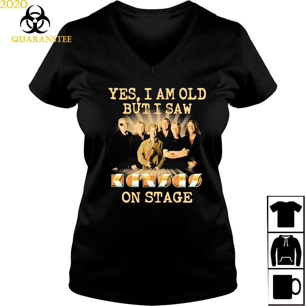Yes I Am Old But I Saw Kansas Band On Stage Shirt Ladies V-neck